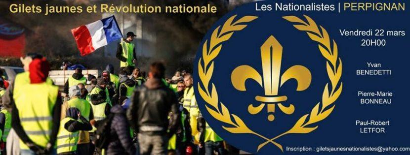 «Gilets Jaunes et Révolution nationale» – Perpignan – 22 mars 2019