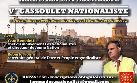 Ve « Cassoulet nationaliste » – Toulouse – 23 mars 2019
